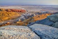 Красочные горы в пустыне Стоковая Фотография