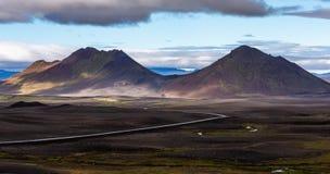 Красочные горы Исландия стоковое изображение