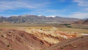 Красочные горы Altai акции видеоматериалы