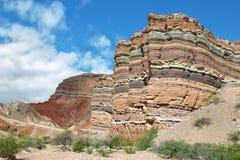 Красочные горы Quebrada de las Conchas, Аргентины Стоковое Изображение
