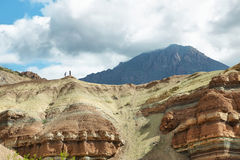 Красочные горы Quebrada de las Conchas, Аргентины Стоковая Фотография