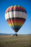 Красочные горячие воздушные шары в полете Стоковое Фото