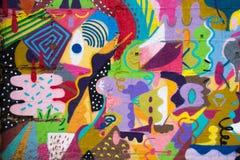 Красочные граффити Стоковая Фотография