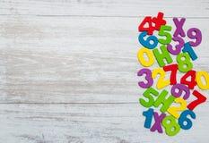 Красочные деревянные номера Стоковые Фото