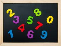Красочные деревянные номера Стоковая Фотография