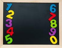 Красочные деревянные номера Стоковое Изображение RF