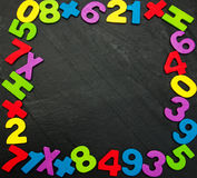 Красочные деревянные номера Стоковые Фотографии RF