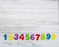 Красочные деревянные номера Стоковое фото RF