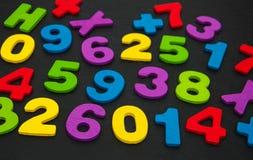 Красочные деревянные номера Стоковая Фотография RF