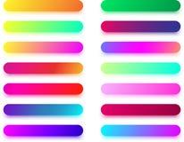 Красочные длинные шаблоны значка изолированные на белизне Стоковое Фото