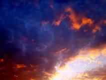 Красочные дождевые облако стоковые изображения rf