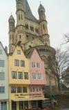 Красочные дома в старом городе Кёльне стоковое фото rf