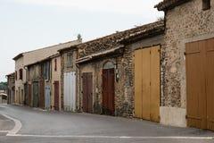 Красочные дома в Valensole в Провансали, Франции Стоковые Изображения