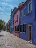 Красочные дома на острове Burano Стоковое Изображение RF