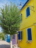 Красочные дома на острове Burano Стоковые Фотографии RF