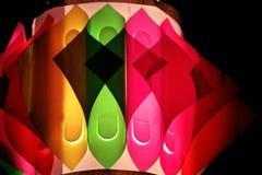 Красочные декоративные лампы во время фестиваля Стоковые Фотографии RF