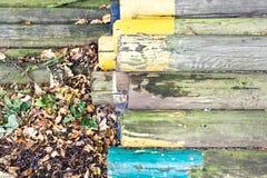 Красочные деревянные журналы Стоковые Фотографии RF
