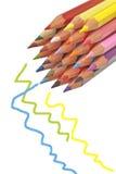 Красочные деревянные карандаши Стоковое фото RF