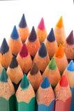 Красочные деревянные карандаши Стоковые Фотографии RF