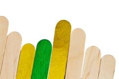 Красочные деревянные ручки lolly льда, Стоковые Изображения RF