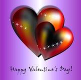 Красочные желания валентинки Стоковые Фото