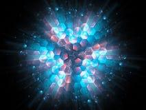 Красочные живые шестиугольники в взрыве космоса, новой технологии Стоковое фото RF