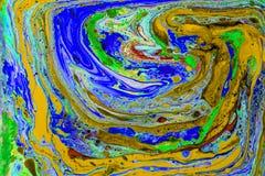 Красочные жидкости от перспективы птицы Стоковое фото RF
