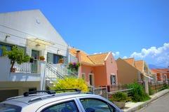 Красочные жилые дома стоковое изображение rf