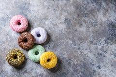 Красочные застекленные donuts Стоковые Фото
