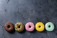 Красочные застекленные donuts Стоковая Фотография