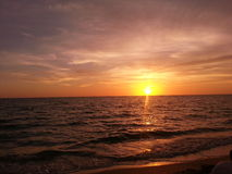 Красочные заходы солнца Стоковые Изображения