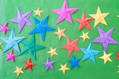 Красочные звезды Origami Стоковая Фотография RF