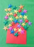 Красочные звезды Origami Стоковое Изображение