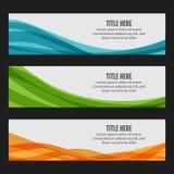 Красочные знамена сети волны Стоковая Фотография