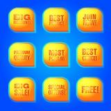 Красочные знамена сети рекламы Стоковые Фотографии RF