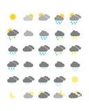 Красочные значки погоды иллюстрация штока