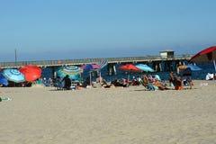 Красочные зонтики на пляже в Fort Lauderdale стоковое изображение rf