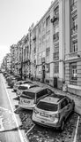 Красочные здания Лиссабона - ЛИССАБОНА/ПОРТУГАЛИИ - 14-ое июня 2017 Стоковые Фотографии RF