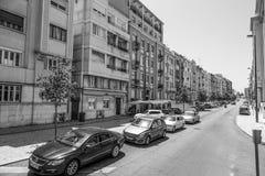 Красочные здания Лиссабона - ЛИССАБОНА/ПОРТУГАЛИИ - 14-ое июня 2017 Стоковое фото RF