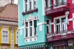 Красочные здания на квадрате соединения Стоковые Фото