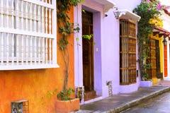 Красочные здания Cartagena стоковое фото