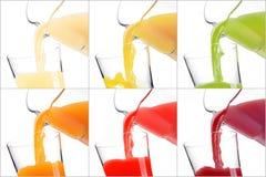 Красочные здоровые соки Стоковое Фото