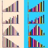 Красочные диаграммы и диаграммы стоковое изображение