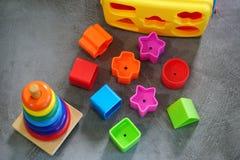 Красочные игрушки в игровой Стоковые Фото