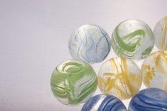 Красочные игрушки мраморов Стоковое Изображение
