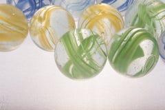 Красочные игрушки мраморов Стоковые Фотографии RF