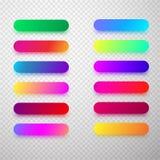 Красочные изолированные округленные шаблоны значка Стоковые Изображения RF
