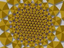 Красочные излучающие полигональные иллюстрации предпосылки желтого цвета золота Стоковая Фотография