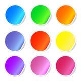 Красочные липкие значки сети Стоковая Фотография RF