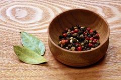 Красочные листья перца и залива Стоковые Изображения